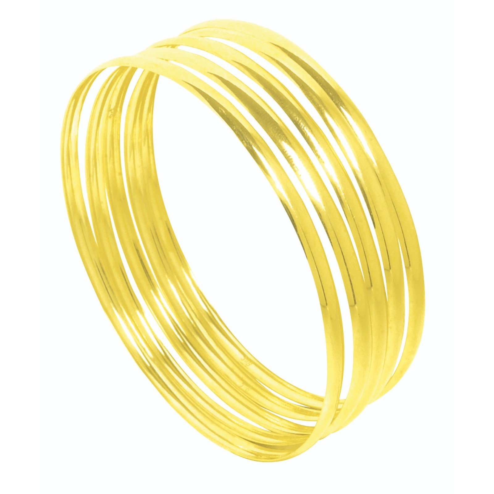 Ladies Gold Jewellery 9ct Solid Gold 4mm C Shaped Bangles