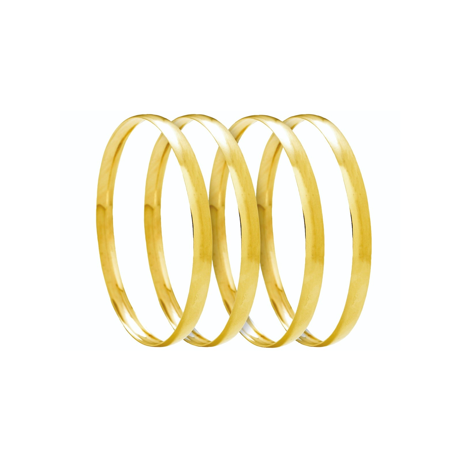 Ladies Gold Jewellery 9ct Solid Gold 6mm C Shaped Bangles
